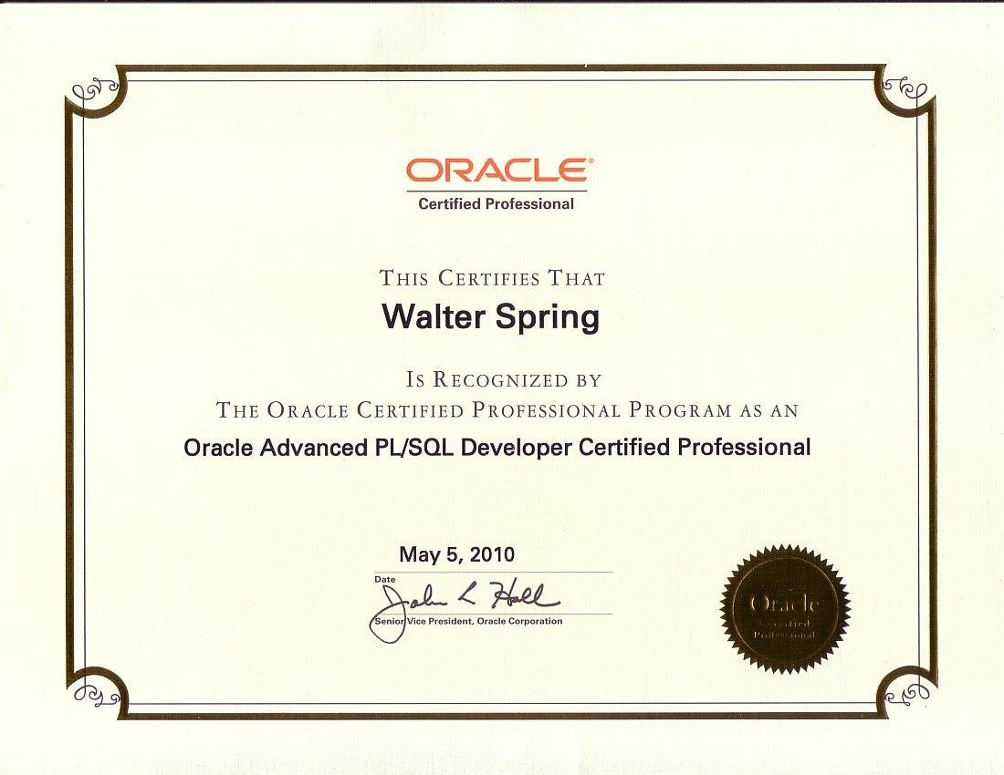 Walters Developer Certificates